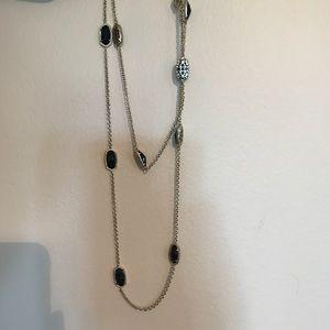 Kendra Scott Kellie Gold Long Necklace In Black